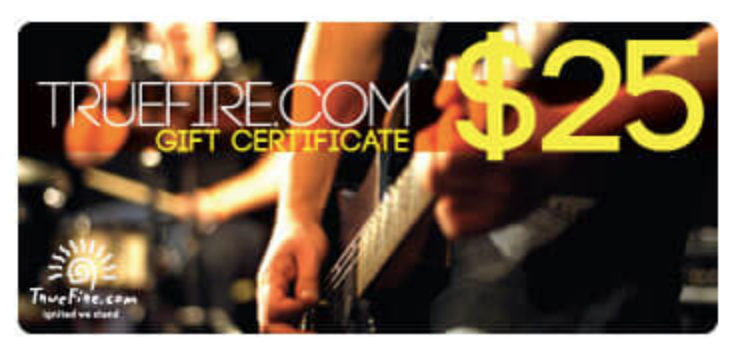 guitar gift certificate valentine day