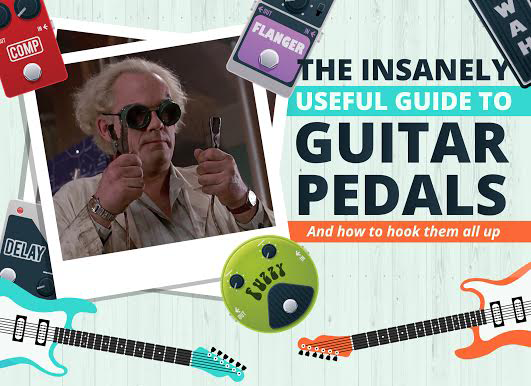 Guitar Effect Pedal Infographic Masthead