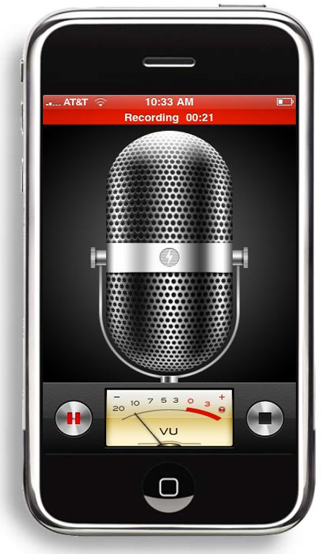 guitar iphone app voicememos